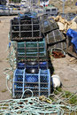 Lobster pot at Belle Ile in France Stock Photos