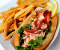 Lobster salad sandwhich Stock Photos