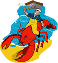 Lobster sea captain just try caging this big crusty critter Royalty Free Stock Photography