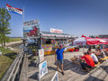 Lobster shack oceanfront restaurant located in wiscassett maine usa Stock Images