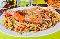Lobster spaghetti Royalty Free Stock Photography