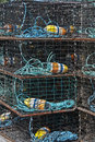 Lobster Traps. Royalty Free Stock Photos