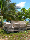 Lobster traps corn island nicaragua Royalty Free Stock Photo