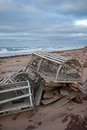 Lobster traps on northern prince edward island a trap or pot is a portable trap that lobsters or crayfish Stock Image
