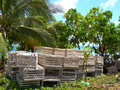 Lobster traps rural caribbean nicaragua Royalty Free Stock Images