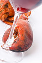 Lobster and Wine Stock Photo