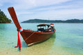 Local boat a at koh rawi satun thailand Royalty Free Stock Image