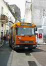 Local bus at the narrow streets of capri italy july on july it is a service via numerous hairpin bends from marina Stock Images