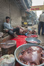 Local butcher in Delhi, India Royalty Free Stock Photo