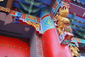 Local Chinese traditional architecture: a richly ornamented building Royalty Free Stock Photo