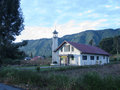 Local church at lake toba in sumatra island indonesia Stock Images