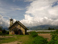 Local church at lake toba in sumatra island indonesia Royalty Free Stock Photo