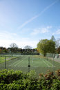 Local Community Tennis Court View Royalty Free Stock Photo