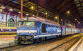 Local diesed train at Strasbourg station Royalty Free Stock Photography