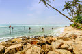 The local fisherman fishing in galle sri lanka march Stock Photography
