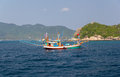 Local fishing boat wooden fisherboat samui island thailand Stock Photo