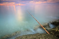 Local Fishing rod, Thailand Royalty Free Stock Images