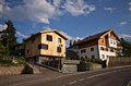 Local houses in castelrotto italy and street little city of europe Royalty Free Stock Image