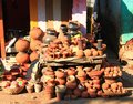 Local Indian Pottery shop , MP, India Royalty Free Stock Photo