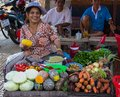 A Local Market in Sa Dec Royalty Free Stock Photo