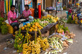 Local market in sri lanka april traditional street matara year Royalty Free Stock Photos
