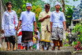 Local people in Pura Besakih Temple, Bali, Indonesia Royalty Free Stock Photo