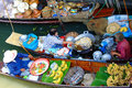 Local peoples sell fruits food and products at damnoen saduak floating market ratchaburi thailand december on december in Royalty Free Stock Photo