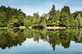 Local recreational area lake ebnisee in south germany Royalty Free Stock Photos