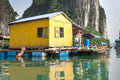 Local resident in halong bay with the goods for sale Royalty Free Stock Images