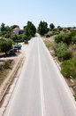 Local road at a resort in greece Stock Photography