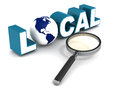 Local search concept importance of search branding and mapping Royalty Free Stock Image