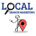 Local search marketing advertising at business city drawing Stock Photos