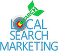 Local search marketing target seo arrow find website Stock Image