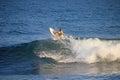Local surfer in the wave, El Zonte beach, El Salvador