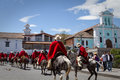 Local town festivities in pintag pichincha ecuador october unknown indigenous people celebrating Royalty Free Stock Photos