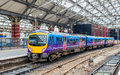 Local train at Liverpool Lime Street Train Station Royalty Free Stock Photo