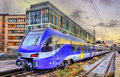 Local train at Munich Main Station Royalty Free Stock Photo