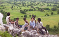 Local village children in Khajuraho Stock Images