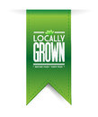 Locally grown banner concept illustration design graph over a white background Royalty Free Stock Photo