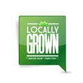 Locally grown food sign illustration design over white Stock Photography