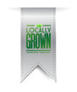 Locally grown grey banner illustration design over white Stock Image