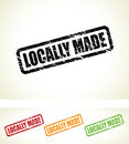 Locally made stamps a grungy set of Royalty Free Stock Photography