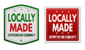 Locally made stickers