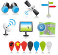 Location icons Royalty Free Stock Photo