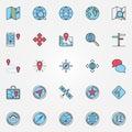 Location icons set Royalty Free Stock Photo