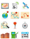 Locations icons Stock Photo