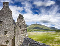 Loch awe and kilchurn castle image taken inside the ruined of by lake scotland europe Royalty Free Stock Photography