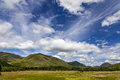 Loch awe landscape image of the lush around kilchurn castle and scotland Royalty Free Stock Image