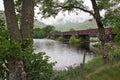 Loch awe railway bridge with Stock Photography