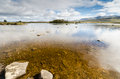 Loch ba in rannoch moor at the end of glen coe Royalty Free Stock Photography